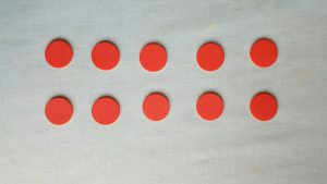 red dots in a row