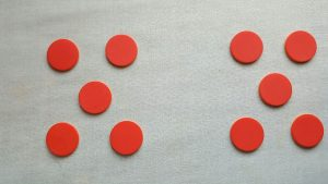 red dots in groups of 5