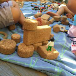 babies with blocks